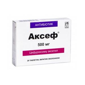 АКСЕФ ТАБ. 500МГ №20