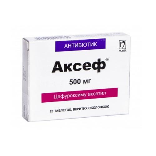 АКСЕФ ТАБ. 500МГ №20 - фото 1 | Сеть аптек Viridis