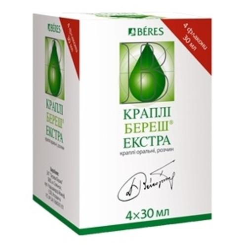 БЕРЕШ ЕКСТРА КАПЛІ 30МЛ - фото 1   Сеть аптек Viridis