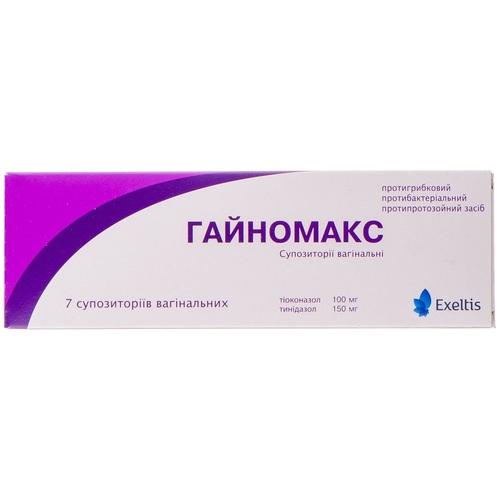 ГАЙНОМАКС СУПП. ВАГ. 100МГ/150МГ №7 - фото 1 | Сеть аптек Viridis