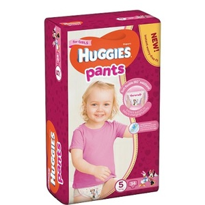 ХАГИС подгуз.-трусики Pants 5 (12-17кг) 34шт для девочек