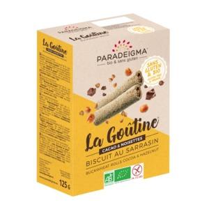 Парадигма Ролиз гречаного борошна з какао та лісовим горіхом 125 г Paradeigma Франція  (бісквіт з на