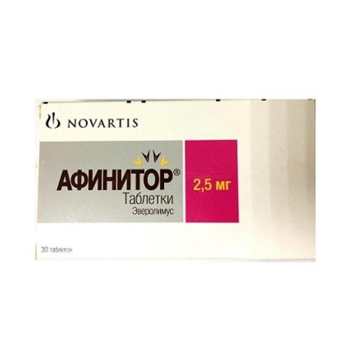АФІНІТОР ТАБ. 2,5МГ №30 - фото 1 | Сеть аптек Viridis