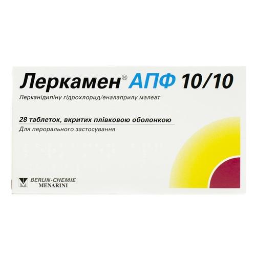 ЛЕРКАМЕН АПФ 10/10 ТАБ. №28 - фото 1   Сеть аптек Viridis