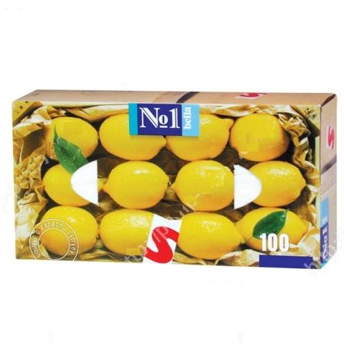 БЕЛЛА Платочки универс. двухслойные (лимон) №1 100шт - фото 1 | Сеть аптек Viridis