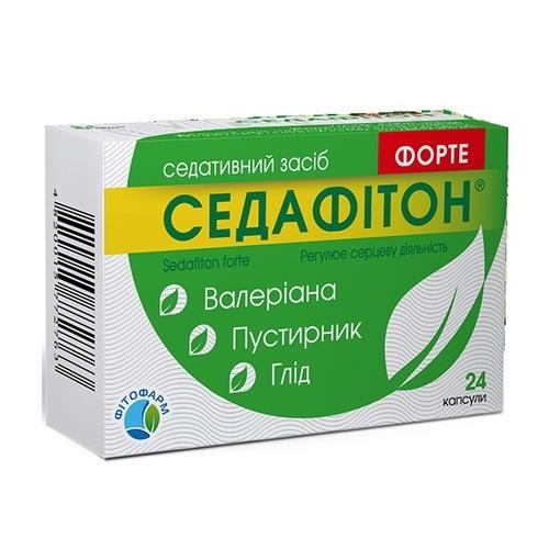 СЕДАФИТОН ФОРТЕ КАПС. №24 - фото 1 | Сеть аптек Viridis
