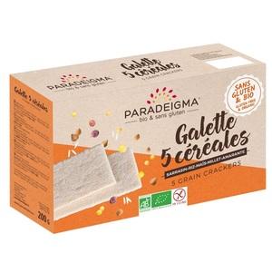Парадигма Крекери з 5 видів борошна 160 г Paradeigma Франція P-GALETTE 5 CEREALES