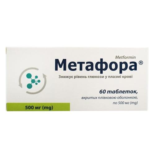 МЕТАФОРА ТАБ. 500 МГ №60 - фото 1 | Сеть аптек Viridis