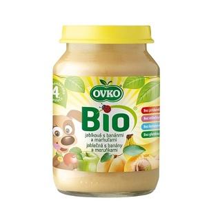 ОВКО Пюре органическое Яблоко с бананом и абрикосом 190г