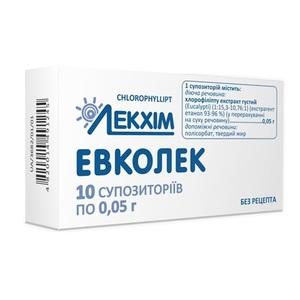 ЭВКОЛЕК СУПП. РЕКТ. 0.05Г №10