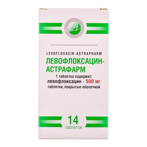 ЛЕВОФЛОКСАЦИН-АСТРАФАРМ ТАБ. 500МГ №14 без ндс - фото 1 | Сеть аптек Viridis