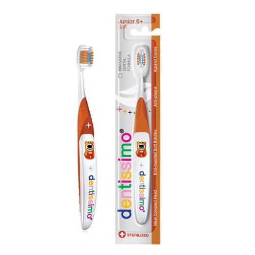 ДЕНТИССИМО Зубная щетка для детей 6+ лет мягкая щетина - фото 1   Сеть аптек Viridis