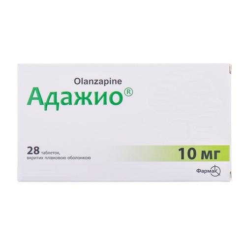 АДАЖИО ТАБ. 10МГ №28 - фото 1   Сеть аптек Viridis