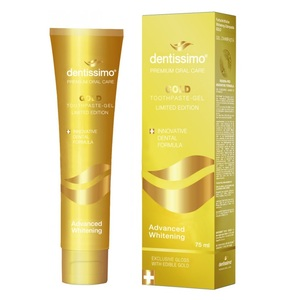ДЕНТИССИМО Зубная паста-гель отбеливающая Gold 75мл