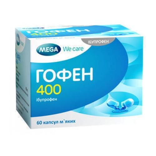 ГОФЕН 400 КАПС. №60 без ндс - фото 1 | Сеть аптек Viridis