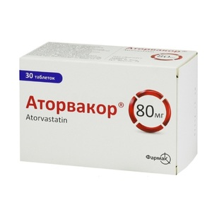 АТОРВАКОР ТАБ. 80МГ №30