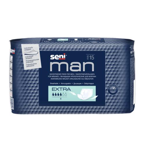 СЕНІ Прокладки уролог. Man Extra 15шт* - фото 1 | Сеть аптек Viridis