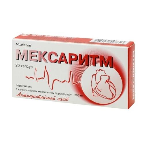 МЕКСАРИТМ КАПС. 0,2Г №20 - фото 1 | Сеть аптек Viridis