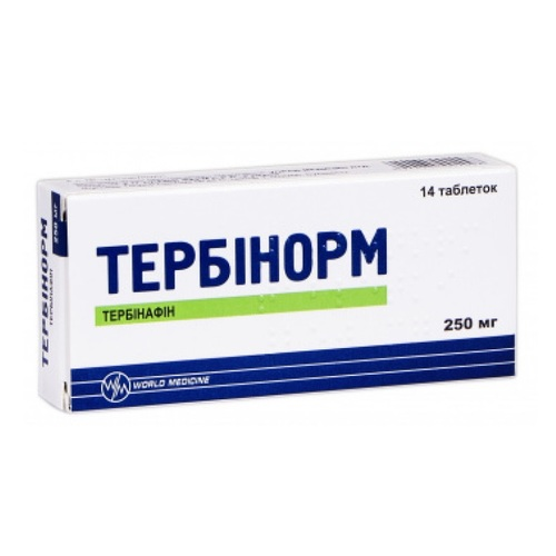ТЕРБИНОРМ ТАБ. 250 №14 - фото 1   Сеть аптек Viridis