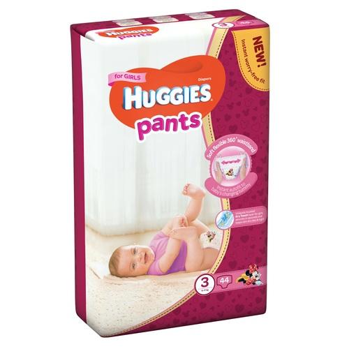 ХАГІС підгуз.-трусики Pants 3 (6-11 кг) 44 шт для дівчаток - фото 1 | Сеть аптек Viridis