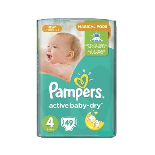 ПАМПЕРС Дит. підгуз. Act. baby-Dry Maxi (8-14кг) №49 - фото 1   Сеть аптек Viridis