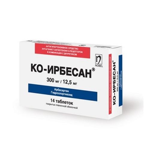 КО-ИРБЕСАН ТАБ. 300МГ/12,5МГ №28 - фото 1 | Сеть аптек Viridis