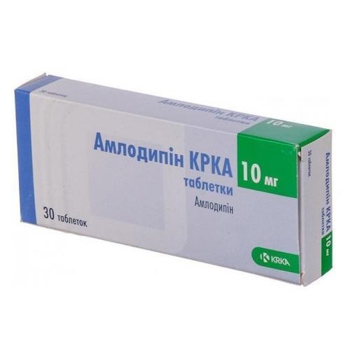 АМЛОДИПИН КРКА ТАБ. 10МГ №30 - фото 1   Сеть аптек Viridis