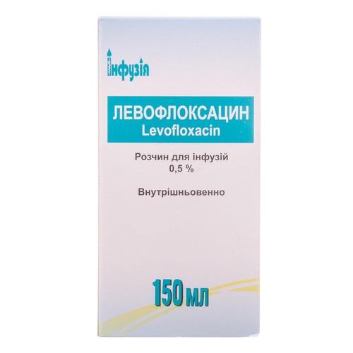 ЛЕВОФЛОКСАЦИН Р-Р Д/ИНФ. 0,5% 150МЛ - фото 1 | Сеть аптек Viridis