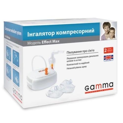 ИНГАЛЯТОР КОМПР.GAMMA EFFECT MAX - фото 1   Сеть аптек Viridis