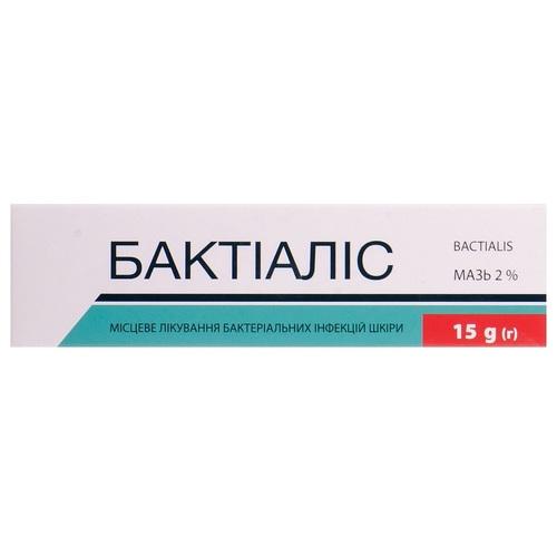БАКТИАЛИС МАЗЬ 2% 15Г #1 - фото 1 | Сеть аптек Viridis