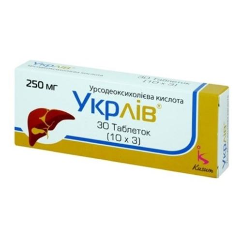 УКРЛИВ ТАБ. 250 МГ №30 - фото 1 | Сеть аптек Viridis