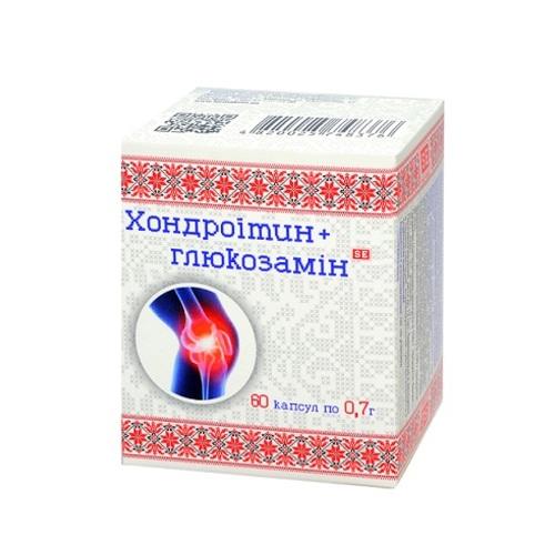 ХОНДРОИТИН+ГЛЮКОЗАМИН КАПС. №60 - фото 1 | Сеть аптек Viridis