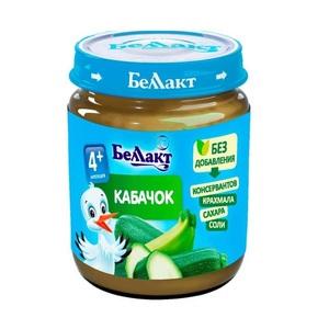 БЕЛЛАКТ Пюре овощное Кабачок 100 г с 4 мес.