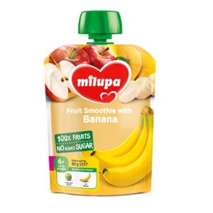 МІЛУПА Пюре фруктове Яблуко та банан з 6 місяців 80г