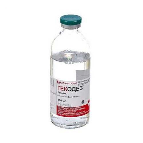 ГЕКОДЕЗ Р-Н Д/ІНФ. 6% 200МЛ - ЮРІЯ-ФАРМ ТОВ - фото 1 | Сеть аптек Viridis