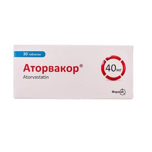 АТОРВАКОР ТАБ. 40МГ №30 - фото 1 | Сеть аптек Viridis
