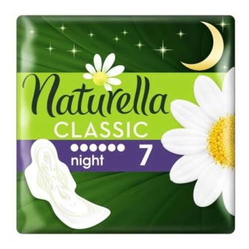 НАТУРЕЛЛА Classic гиг.прокл.с крылышками Camomile Night Single 7шт - фото 1 | Сеть аптек Viridis