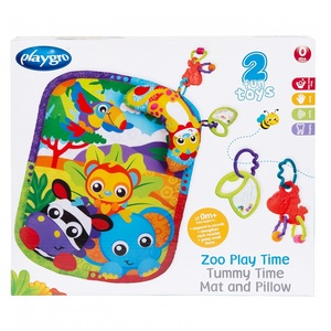 PLAYGRO Развивающий коврик Зоопарк с подушечкой
