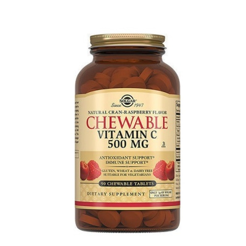 СОЛГАР Витамин С таб. 500мг с малиновым вкусом №90 - фото 1 | Сеть аптек Viridis
