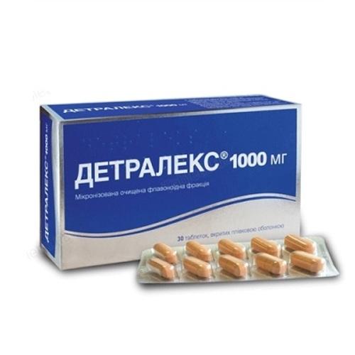 ДЕТРАЛЕКС ТАБ. 1000МГ №30 - фото 1   Сеть аптек Viridis