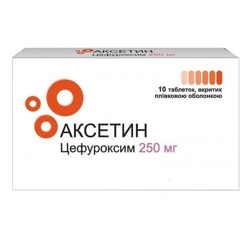 АКСЕТИН ТАБ.П/О 250МГ#10(10X1) - фото 1   Сеть аптек Viridis