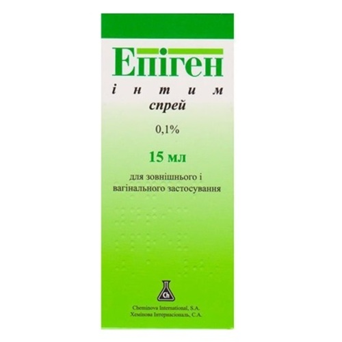 ЕПІГЕН ІНТИМ СПРЕЙ 0.1% 15МЛ - фото 1 | Сеть аптек Viridis