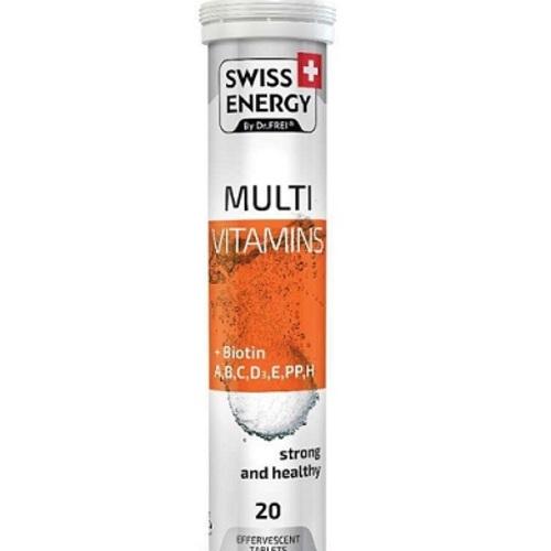 ВИТАМИНЫ SWISS ENERGY BY DR.FREI MULTIVITAMINS ТАБЛ. ШИПУЧИЕ №20 - фото 1 | Сеть аптек Viridis