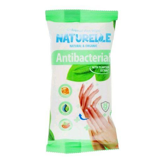 САНВИТА Салфетки влажные антибактериальные Naturelle Подорожник 15шт - фото 1   Сеть аптек Viridis