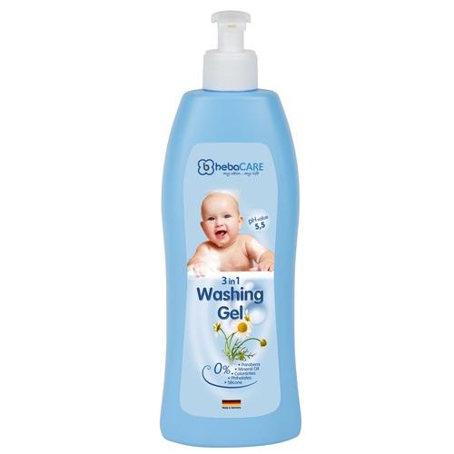 ХЕБАКЕА Шампунь, гель д/душа і ванни дитячий 3 в 1 500мл - фото 1   Сеть аптек Viridis