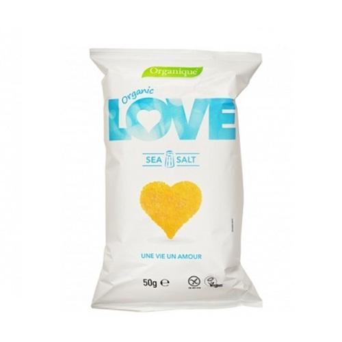 СНЕКИ кукурудзяні з морською сіллю McLLOYD'S «Love» органічні, 50 г - фото 1   Сеть аптек Viridis