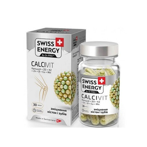 ВИТАМИНЫ SWISS ENERGY BY DR.FREI CALCIVIT ТАБЛ.№30