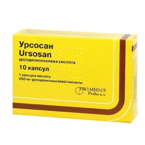 УРСОСАН КАПС. 250МГ №10 НДС - фото 1 | Сеть аптек Viridis