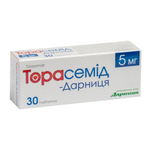 ТОРАСЕМИД-ДАРНИЦА ТАБ. 5МГ#30 - фото 1 | Сеть аптек Viridis