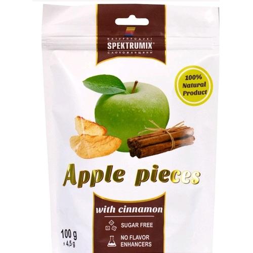 СПЕКТРУМІКС Скибочки яблучні з корицею 100г - фото 1 | Сеть аптек Viridis